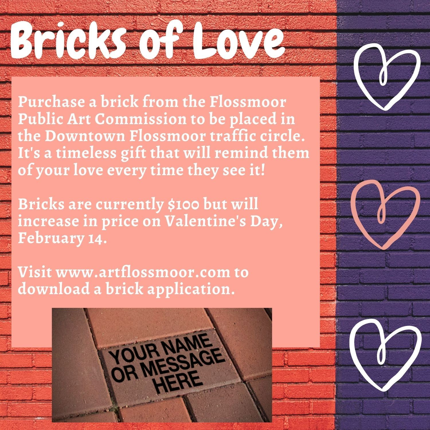 Bricks of Love flyer