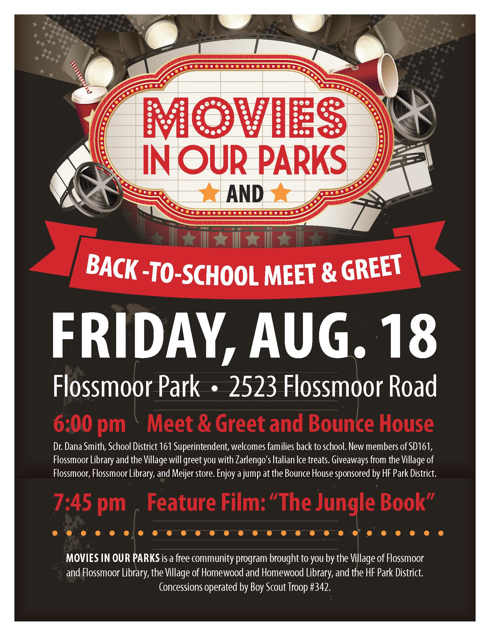 Back to School Movie flyer